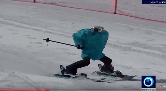 平昌で世界初のロボットスキー大会も開催中! 竹島の守護神「テコンV」も参加、ショボすぎて世界から嘲笑の嵐の画像4