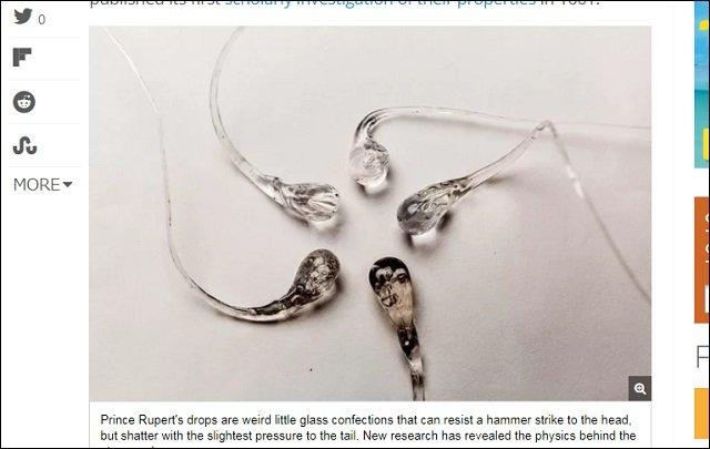 350年以上謎だった物理の難問「オランダの涙」が遂に解決! ハンマーでも割れないのにあることをすると砕け散るガラス玉のナゼの画像2
