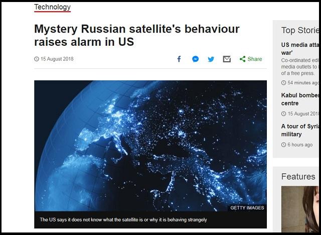 【緊急】ロシアの殺人衛星が「超異常な動き」をしていることが発覚! 宇宙戦争勃発を米国務省がガチ懸念の画像1