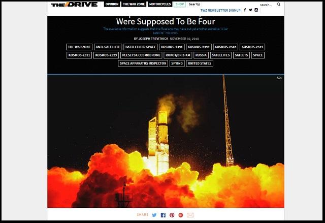 ロシアが「無宣告の人工衛星」を打ち上げ! 攻撃用「宇宙兵器」の可能性アリ、米軍が警戒!の画像1
