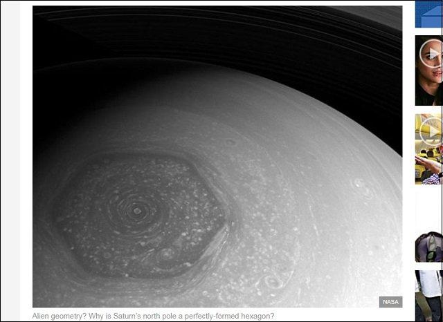 土星の北極に形成された「超巨大6角形ヘキサゴン」の謎! 色・形・精巧さ…すべて怪しい、UFO基地かイルミナティのシンボルか?の画像2