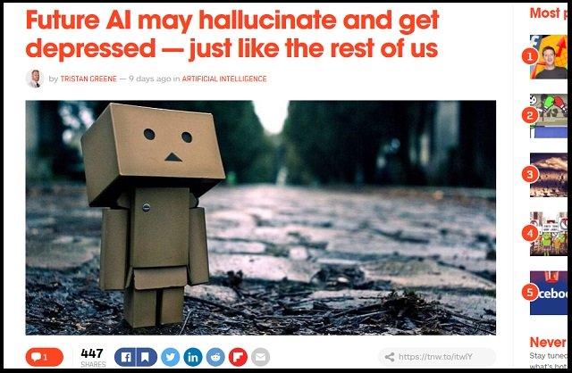 【ガチ】「AIも鬱病になり、幻覚を見るようになる」研究者が発表! 抗うつドラッグの投与も必要に?の画像1