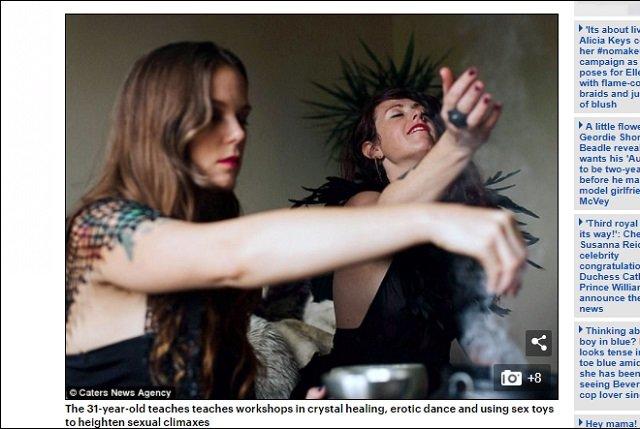 極限のアクメをもたらす「オーガズム呪文」が欧州で流行中! SEX魔女が提唱「一陣の風を感じるだけで欲情♡」の画像3