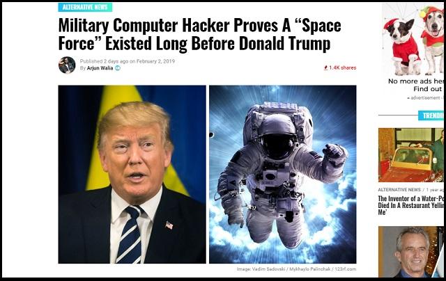 「米国の宇宙軍はずーっと前から存在していた」衝撃発覚! 地球外将校、UFO、宇宙戦艦…有名ハッカーが暴露!の画像1
