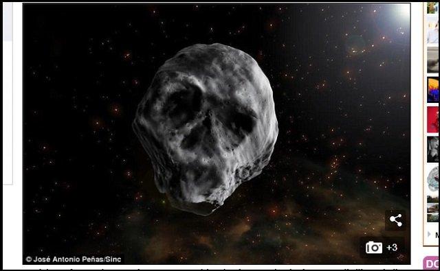 【悲報】『君の名は。』の彗星落下は2018年に現実化する! 巨大ドクロ型隕石が71%の確率で地球に墜落予定!の画像1