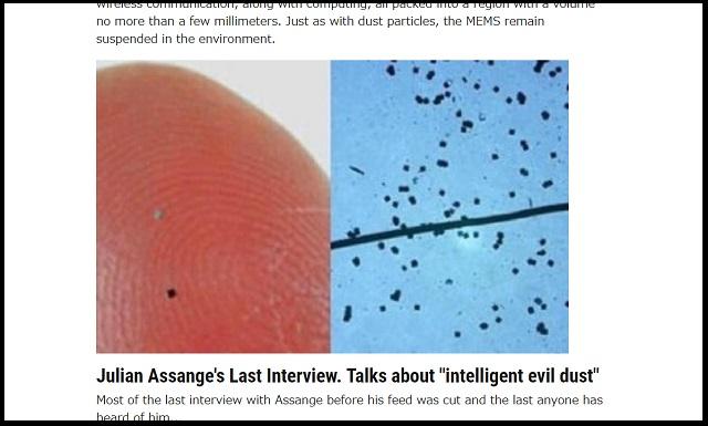 【速報】「もうすぐ悪魔の塵・スマートダストがばら撒かれる」Wikileaksアサンジが警告! 世界中が危険に!? の画像1