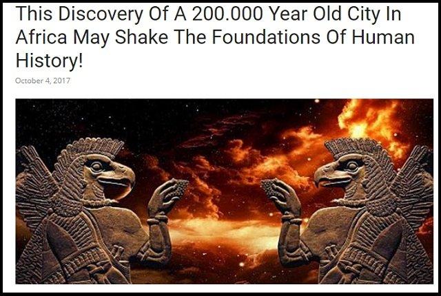 20万年前に宇宙人アヌンナキが築いた「地球最古の超古代文明」が南アフリカで発見される! 証拠多数、全地球文明の起源か?の画像1