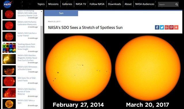 【悲報】「太陽が15日連続で活動してない」NASAがガチ発表! 今の寒さは氷河期の前触れ、今後がヤバイ!の画像1