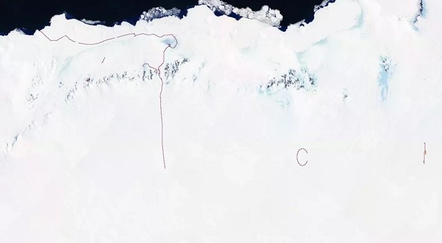 【衝撃】南極の秘密地下施設の場所がトラッキングアプリでガチ特定される! 失われた古代ピラミッドの可能性もの画像4