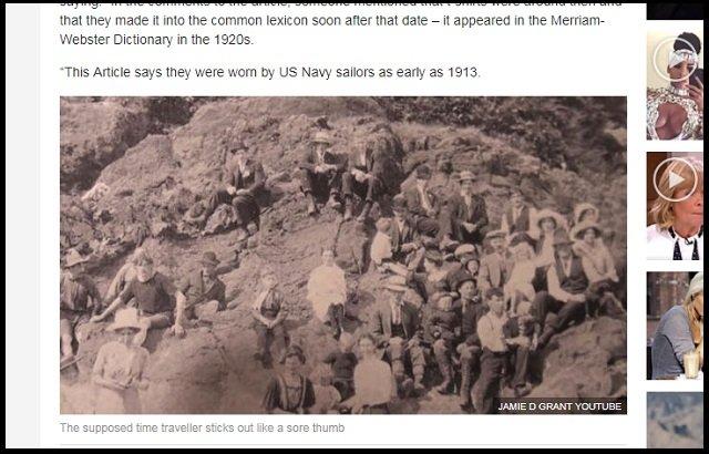【衝撃】1917年の写真に「現代のサーファー男」が写っていたことが判明! Tシャツ、短パン… タイムトラベラーか?の画像1