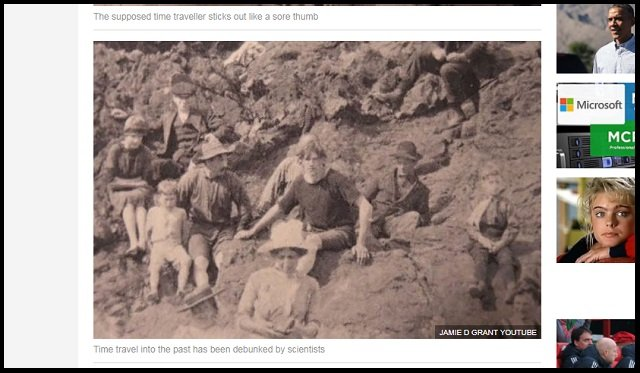 【衝撃】1917年の写真に「現代のサーファー男」が写っていたことが判明! Tシャツ、短パン… タイムトラベラーか?の画像2