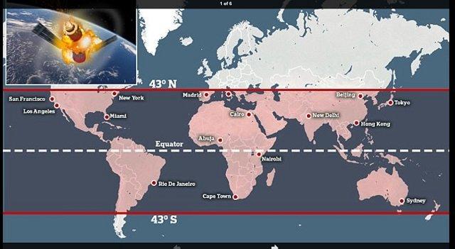 【ガチ悲報】来年1~3月に、中国の衛星「天宮1号」が制御不能で東京落下→日本壊滅の可能性! 欧州宇宙機関が緊急警告「100キロ級のパーツが次々落下」の画像2
