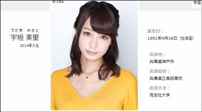 干されアナとなったTBSの宇垣美里アナ、降板でブチ切れ&号泣!? 散々な評判と現場の声とは?の画像1