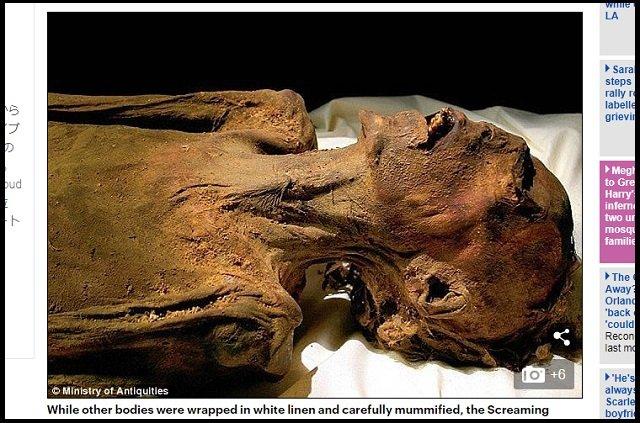 古代エジプトの絶叫ミイラ「名無しE」の悲惨な死に方が判明! 130年以上謎だった父殺しの刑がヤバい!の画像2
