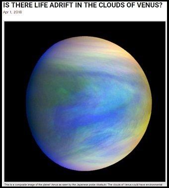 「金星の雲に生命が存在する可能性」NASA研究者発表! 謎の黒いスポットに居住…やはり雲の中には何かいる!の画像1