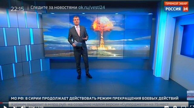 【悲報】ロシア国営テレビ「ハルマゲドンに備えよ」とガチ警告! 米との核戦争を示唆、シェルターに食料とガスマスクを用意せよと指南!の画像1