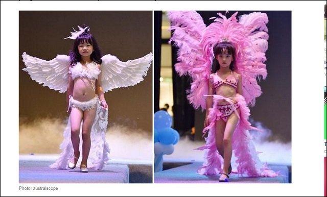 幼女らをセクシー下着モデルに起用! 中国のヴィクトリアズ・シークレット風ファッションショーに非難殺到「まるでペドセンター」の画像1