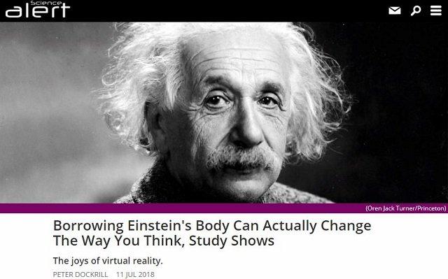 アインシュタインのVRアバターを使うと実際に頭が良くなることが判明! デキる人に「なりきる=なる」こと証明!の画像2