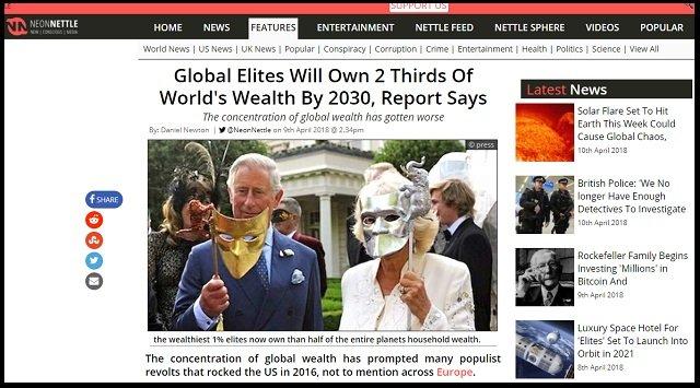 【悲報】「2030年までに1%のエリートが世界の3分の2の富を独占」英政府機関発表! ピケティの予言的中、NWOが現実に!の画像1