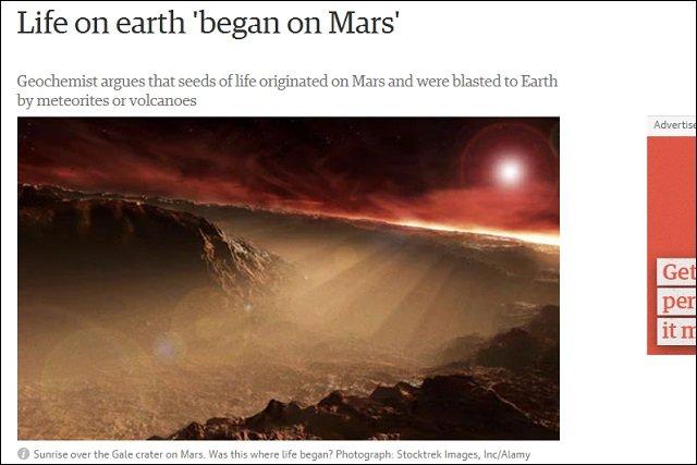 【ガチ】地球生命が火星からやって来た2つの科学的根拠とは? 米教授「われわれは火星人」の画像2