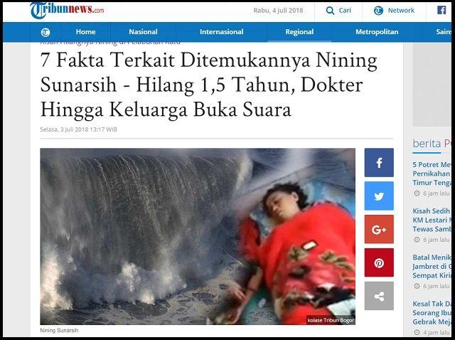 海で死んだはずの女が帰ってきたリアル浦島太郎事件発生! 1年半前と同じ服、同じ場所で…  インドネシア全土が震撼!の画像1