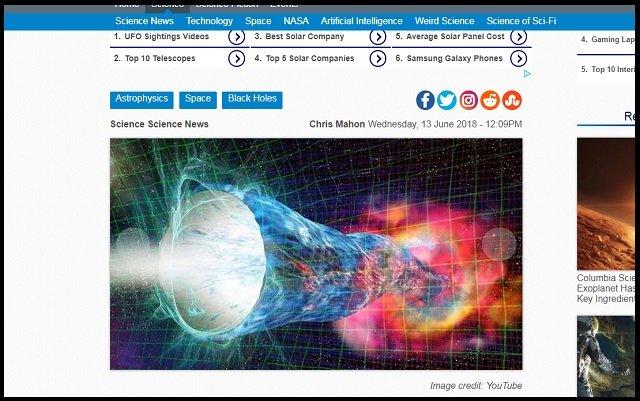 ブラックホールは存在しない可能性が研究で判明! むしろ時空をショートカットするワームホールだった!?=ベルギーの画像1
