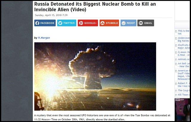 ソ連の最強水爆「ツァーリ・ボンバ」爆発実験は暴走巨大エイリアンの抹殺が目的だった! フルシチョフが指示、不可解発言も…の画像1