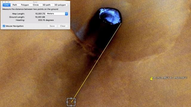 【座標アリ】グーグルマーズが火星に墜落した巨大な有機体UFOを激撮! これはすごい… 正体は生きる宇宙船か!?の画像3