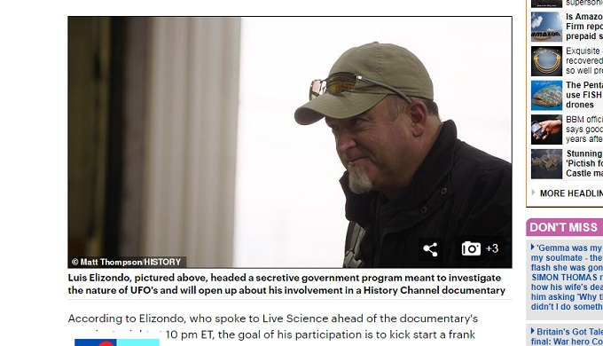 米国防総省の元高官がテレビでUFO機密を続々暴露! AATIP計画の真実に全米騒然、UFO=エイリアンの乗り物ではなく…!?の画像2