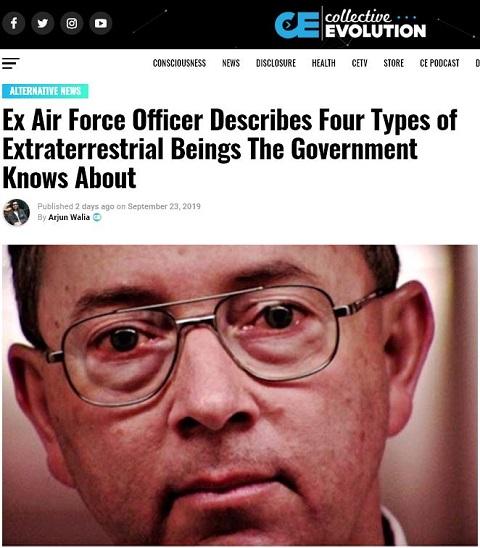米空軍の元捜査官「政府が認知しているエイリアン4種」をガチ暴露! 指先に吸盤、無毛でネコ耳、ゼロ点エネルギーを活用…!の画像2