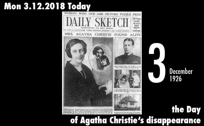 12月3日は世界的推理小説家、アガサ・クリスティが失踪した日! 1,000 ...