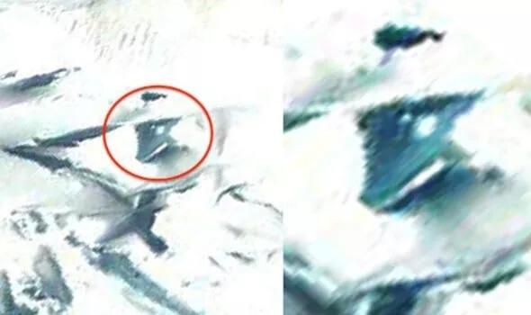 """在Google地球上发现了地下南极美军特战机"""" TR-3B""""! 专家们坚信,它是通过异形技术的逆向工程制造的! 图片1"""