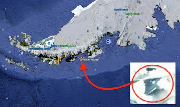 """在Google地球上发现了地下南极美军特战机"""" TR-3B""""! 专家们坚信,它是通过异形技术的逆向工程制造的! 图片2"""