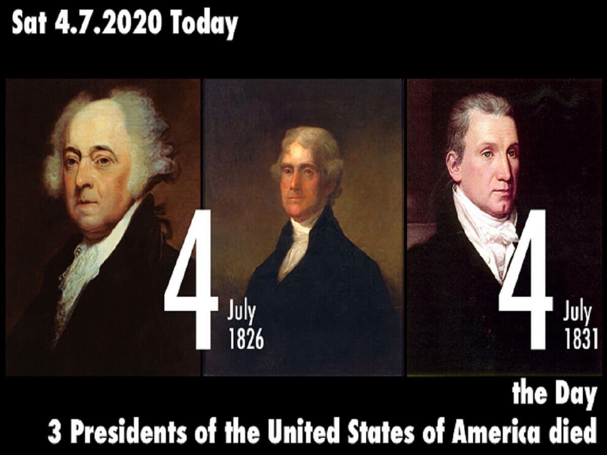7月4日はアメリカ独立記念日、そして3人の歴代アメリカ合衆国大統領が死んだ日!