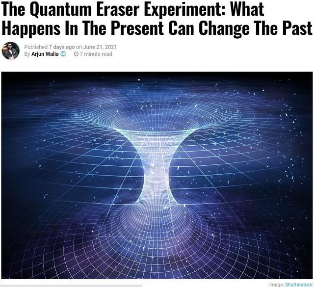 「過去は変えることができる」科学の新常識がヤバい! 「時間も空間もすべては意識の産物」最先端の量子論をわかりやすく解説!の画像1